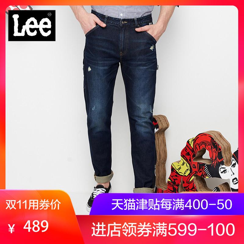 Lee男款蓝色漫威小脚牛仔裤新款L147313SP9DG,新款lee牛仔裤