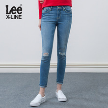 Lee女装 X-line舒适时尚蓝色牛仔裤LWN4183AX8LB图片