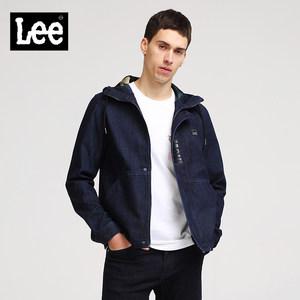 Lee男款2018新品深牛仔蓝长袖夹克L301783JL898