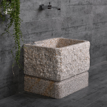 Stone mop pool stone balcony sink outdoor bucket floor-to-ceiling drag basin retro mop pool courtyard mop Pool