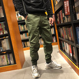 Stone home autumn and winter three-color new Ami trousers street casual Japanese men's thick section word bundle mouth pants