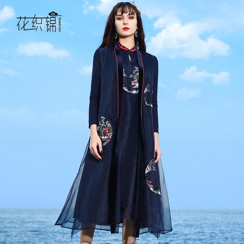 花织锦风衣