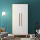 北欧衣柜现代简约经济型双门2门两门宜家衣柜小户型公寓儿童衣柜