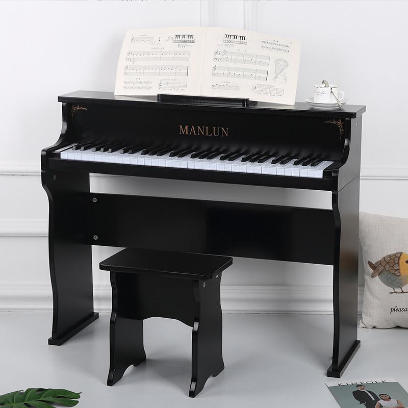 儿童钢琴61键木质宝宝小钢琴玩具礼物初学者早教启蒙钢琴电钢琴
