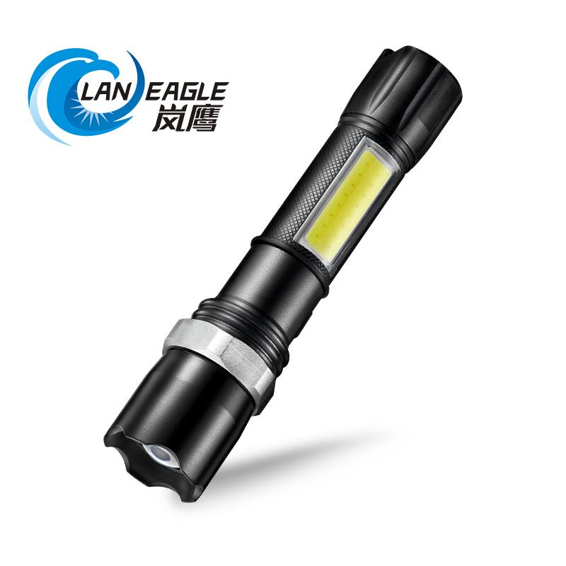岚鹰手电筒强光充电超亮特种兵多功能LED远射户外防身家用小便携