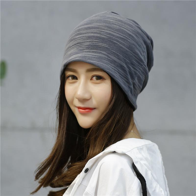 帽子女条纹韩版