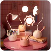 插电式简易寝室床头夹式LED台灯创意护眼宿舍书桌学习写字夹子灯