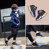 新款儿童冬季加棉运动鞋男童韩版软底休闲鞋保暖学生防滑板鞋17