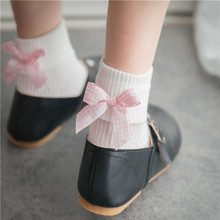Cotton tube female socks autumn thin section cuffed white pile of stockings Lolita bow college wind student socks