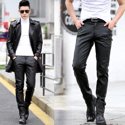 Кожаные брюки Артикул 535924756707