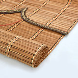 Antique bamboo roller blinds balcony sunscreen roll pull curtain partition office curtain hotel bamboo curtain custom