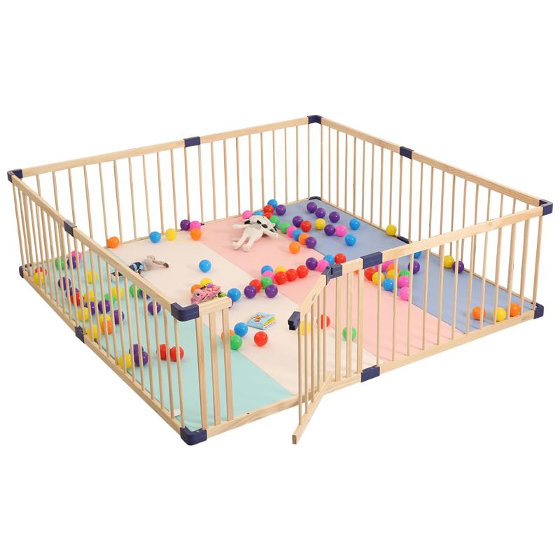 出口澳洲婴儿游戏围栏宝宝爬行学步护栏实木室内儿童安全围栏栅栏