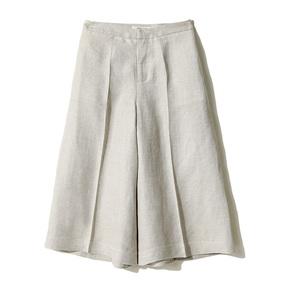 [MLCKZ191]茉莉雅集 18夏易搭 天然人字纹丝麻舒适阔腿裤
