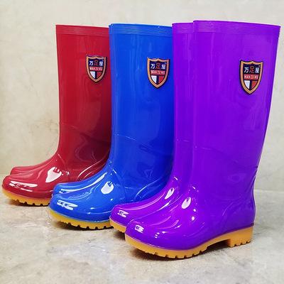 果冻防滑水靴下雨鞋雨靴防水鞋胶鞋套鞋女高筒成人夏季平底时尚潮