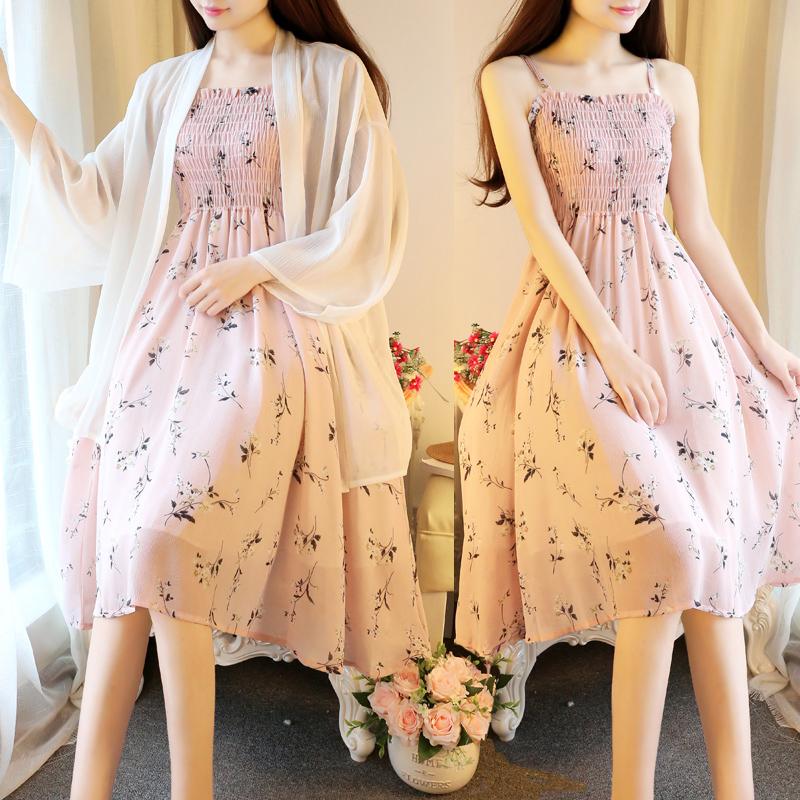 夏季孕妇装韩版吊带裙