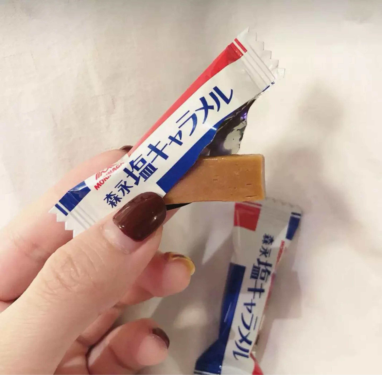 日本进口零食品Morinaga森永奶糖法国岩盐特浓焦糖太妃牛奶糖果