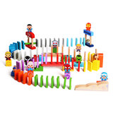 Wooden play family avengers organ domino children children puzzle domino blocks wooden toy boy