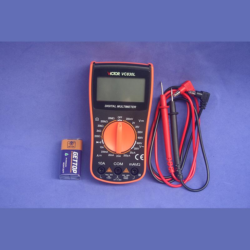 深圳胜利正品VC830L胜利数字万用表手持万能表带蜂鸣功能送电池