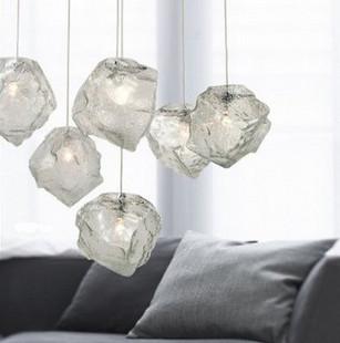 北欧吊灯超受欢迎冰块冰晶吊灯 个性创意餐厅灯过道灯吧台灯饰包邮