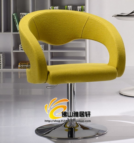 品牌单人休闲办公沙发旋转升降电脑椅时尚简洁咖啡厅休闲接待椅子
