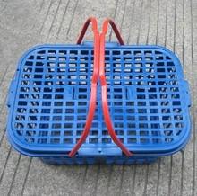 批发方形杨梅篮草莓篓葡萄篮10斤塑料手提水果篮子运输筐有盖 特价