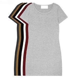 图片:天天特价夏季女装韩版大码短袖女t恤中长款打底衫修身包臀连衣裙