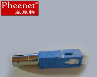 阴阳式转换法兰盘适配耦合连接器母ST公SC菲尼特Pheenet