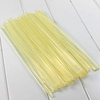 High quality hot melt glue stick Small yellow glue strip full transparent Soft hot melt glue stick 7mm