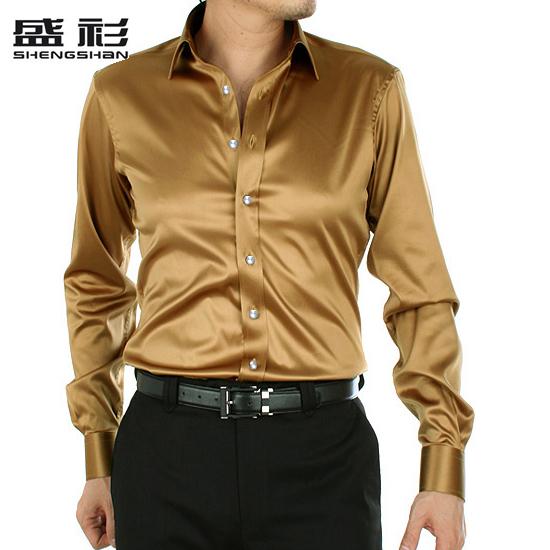 男士绸缎衬衣