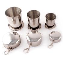 件套无磁折叠把手杯野餐烧烤啤酒杯登山杯咖啡杯4户外不锈钢杯