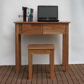 新中式实木书桌 水曲柳简约欧式古典电脑桌学生写字台北欧办公桌
