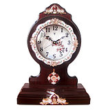 Polaris European Desktop Clock Fashionable Creative Silent Living Room Wooden Clock Represents Simple Bedroom Clock in the Pastoral