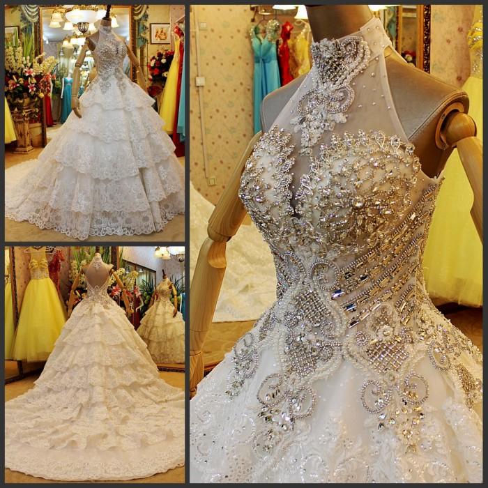 镶钻韩版婚纱