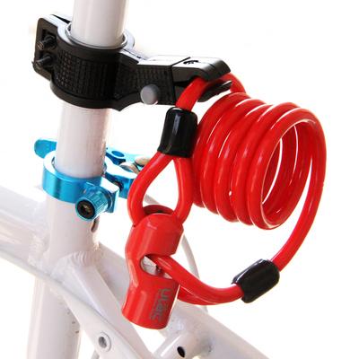 优力自行车防盗锁钢缆锁加长锁条形锁锌合金锁头单车山地车锁