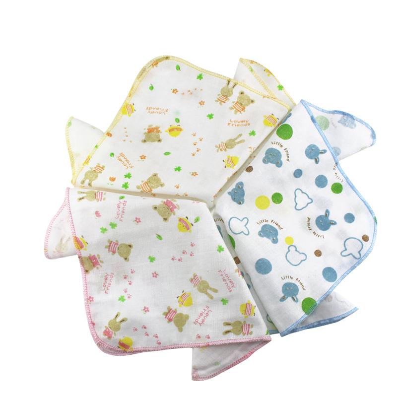 100%纯棉双层纱布手帕 喂奶巾 全棉纱布垫巾手巾 小方巾 口水巾