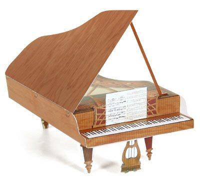 满48包邮三角折叠钢琴乐器3D立体纸模型手工DIY带实物说明
