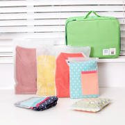 Travel travel storage and sorting bag Transparent waterproof self-sealing dust bag Travel luggage packing bag clothes