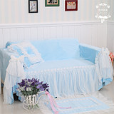Flowers open wood, pastoral style sofa set physical shooting sofa towel sofa cover dust cover