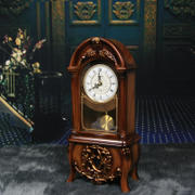 Li Sheng European retro clock clock living room countertop clock bedroom decoration fashion pendulum clock with hourly hour