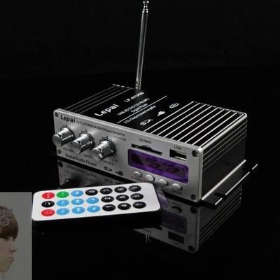 支持遥控 12V 插卡功放 12伏车载插卡 电脑收音 功放机