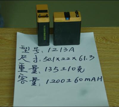 雅格牌4V1250MAH铅酸蓄电池 玩具电瓶 用于LED手电筒 台灯 头灯等