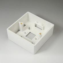 正泰电工86型 墙壁开关插座明装盒 86型 通用明装盒