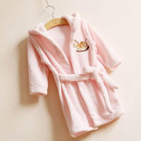 Children's bathrobe robe cartoon parent-child big boy boys pajamas flannel home service winter baby bathrobe