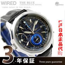 包邮日本正品代购SEIKO精工WIRED AGAW422三眼商务休闲石英男手表