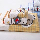 Gold Snoopy cotton square towel towel bath towel each one or three sets cartoon-free mother and child