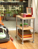 玉树家具 可移动可升降收纳架 文件架 层架 餐边架