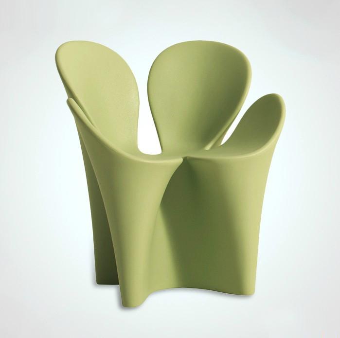 时尚创意花瓣椅 花朵餐桌椅 简约造型雕塑椅 幸福草椅子