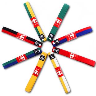 天拳跆拳道腰带绣字道带儿童考级白黄带黄绿带绿蓝带蓝红带红黑带
