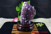 Feng Shui ornaments, Wang Renyuan, marriage, Brazil, natural purple water crystal ornaments, opening mascot, town house