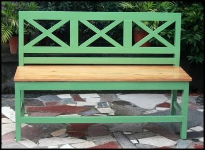 实木餐椅 地中海风格 咖啡休闲椅 实木椅子 长沙发椅a25年中大促
